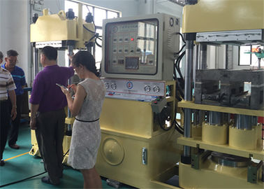 China 200 / 400 ton Vehicle Brake Pad Making Machine With 4 Cylinders Dual Working Stations factory